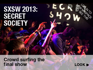 Secret Society SXSW 2013: Crowd surfing the final show