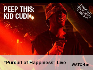 "Kid Cudi's ""Pursuit of Happiness"" Live"