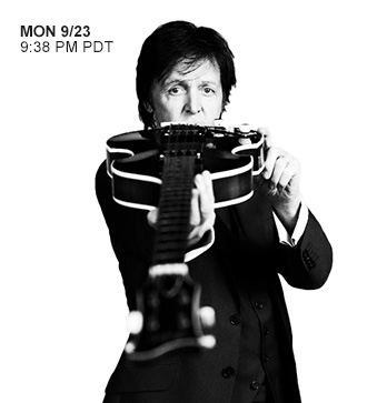Paul McCartney Mon 9/23 9:38PM PDT