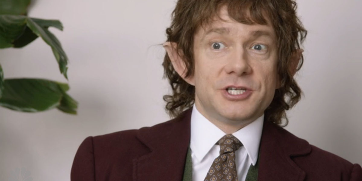 Martin Freeman Mashes Up 'The Office' & 'Lord of the Rings' In 'SNL' Sketch